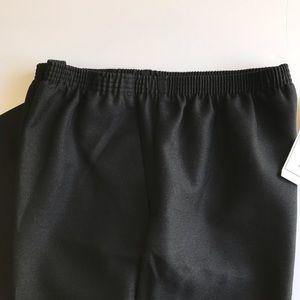 Alfred Dunner classic elastic waist slacks…